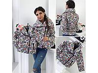 Детский стильная куртка косуха на синтепоне  (86-116 см) 12П2260