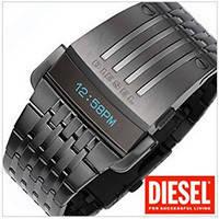 Наручные часы Diesel Predator,Дизель Хищник  бегущая строка,стальной ремешок,оригинал