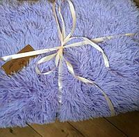 Лавандовый ворсистый мягкий плед-покрывало с длинным ворсом, фото 1