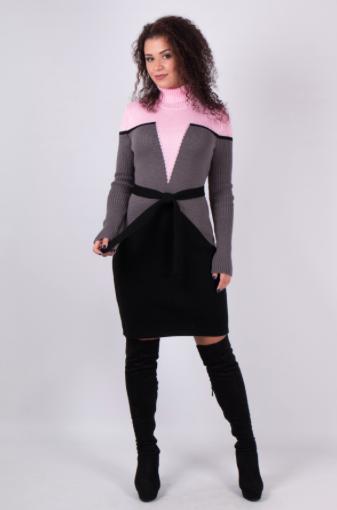 Модели вязаных платьев  - Корсет