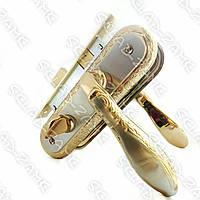 Замок-защелка с ручками для межкомнатных дверей Ozcanlar ZARA WC A/S