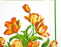 Ткань вафельная, Цветы 3878_ 02,Состав ткани:100% хлопок. Плотность:204 г/м2 .Ширина:150 см.
