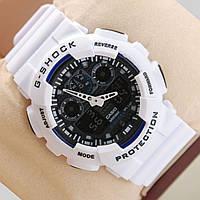 Часы CASIO G-Shock GA 100 AAA качество бело-черные