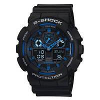 Часы CASIO G-Shock GA 100 AAA качество черно-синие