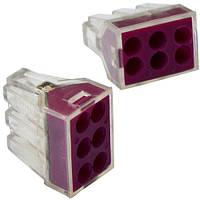 """Экспресс-клемма для распределительных коробок """"WAGO 773-326"""" на 6 проводников, 220В, 25А, 1-2,5 мм. кв."""