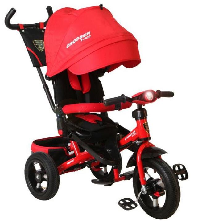 Трехколесный велосипед-коляска Azimut Crosser T-400 красный***