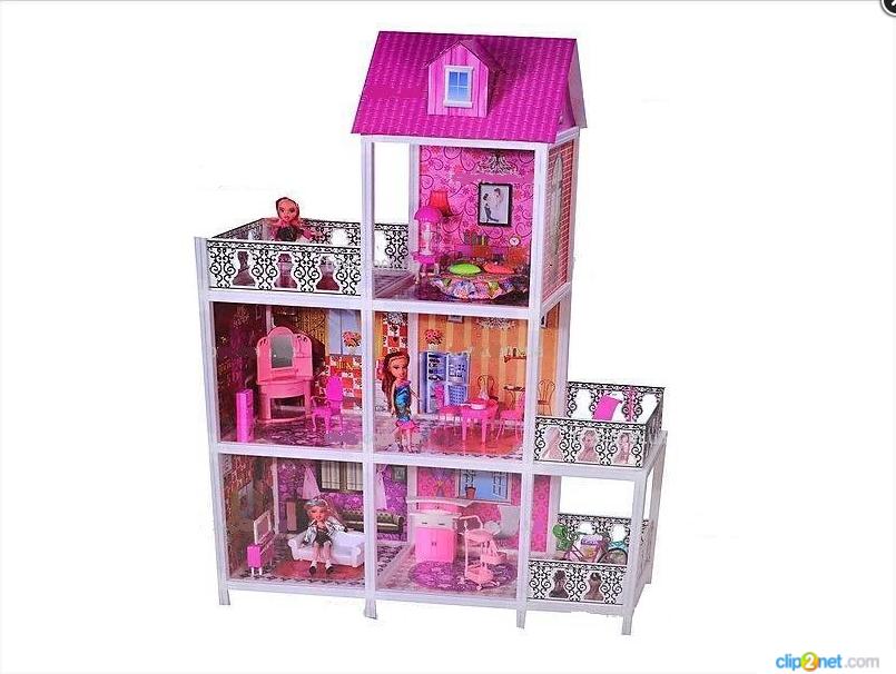 Детский кукольный домик для Барби 66893