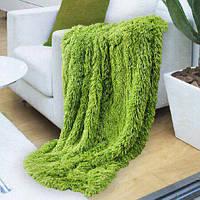 Травяной ворсистый мягкий плед-покрывало с длинным ворсом, фото 1