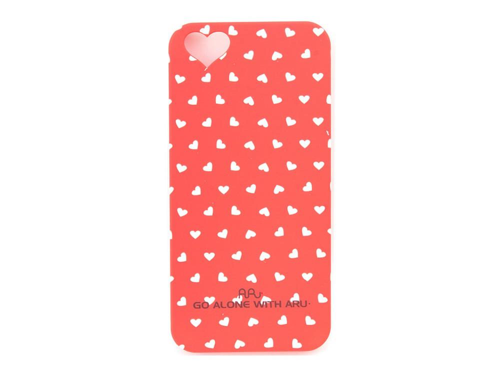 Чехол ARU для iPhone 5C Hearts Red