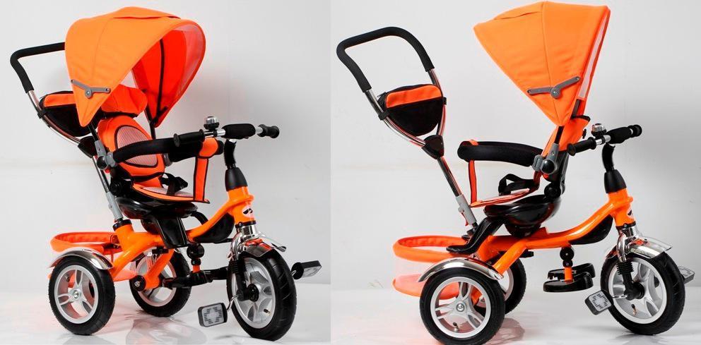 Велосипед трехколесный TR16004 Надувные Колеса - Поворотное Сиденье ор