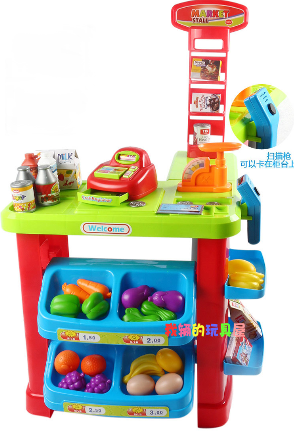 Детский супермаркет-магазин 661-80 с тележкой ***