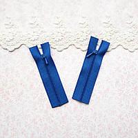 Молния мини для кукольной одежды, рюкзаков, сумок и обуви, 8 см - синий электрик