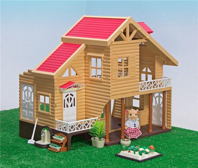 Животные флоксовые Happy Family 012-03 Домик (аналог Sylvanian Familie