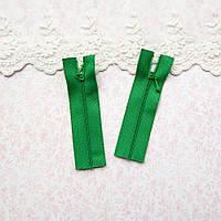 Молния мини для кукольной одежды, рюкзаков, сумок и обуви, 8 см - красивая зелень