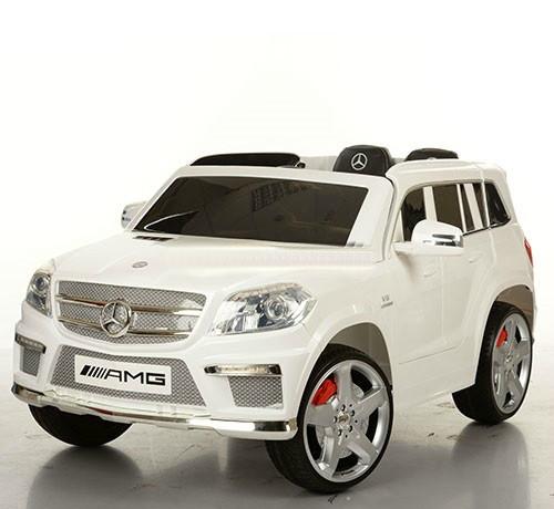 Детский электромобиль джип M 3121 EBLR-1 Мерседес, кожа, белый***