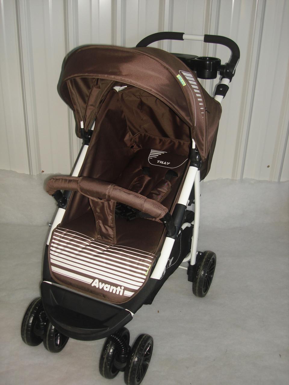 Прогулочная коляска TILLY Avanti T-1406 коричневая, новинка 2017года***
