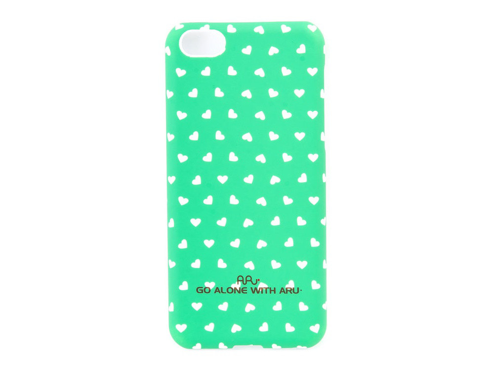Чехол ARU для iPhone 5C Hearts Green