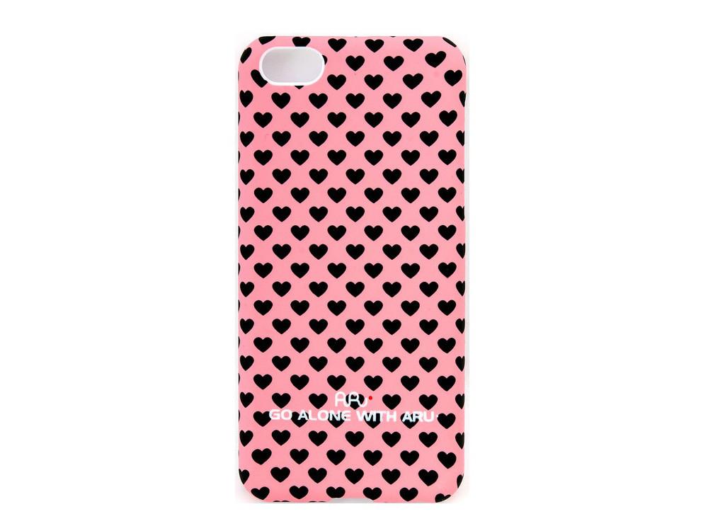 Чехол ARU для iPhone 5C Hearts Pink