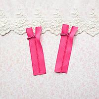 Молния мини для кукольной одежды, рюкзаков, сумок и обуви, 8 см - ярко-розовая