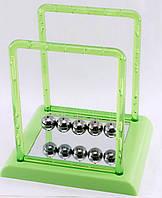 Шары Ньютона зеленые 13,5х14х11,5 см- видеообзор, удивительная конструкция, которую называют колыбель Ньютона