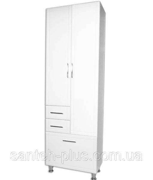 Пенал для ванной комнаты Классик -60 6/4 с корзиной