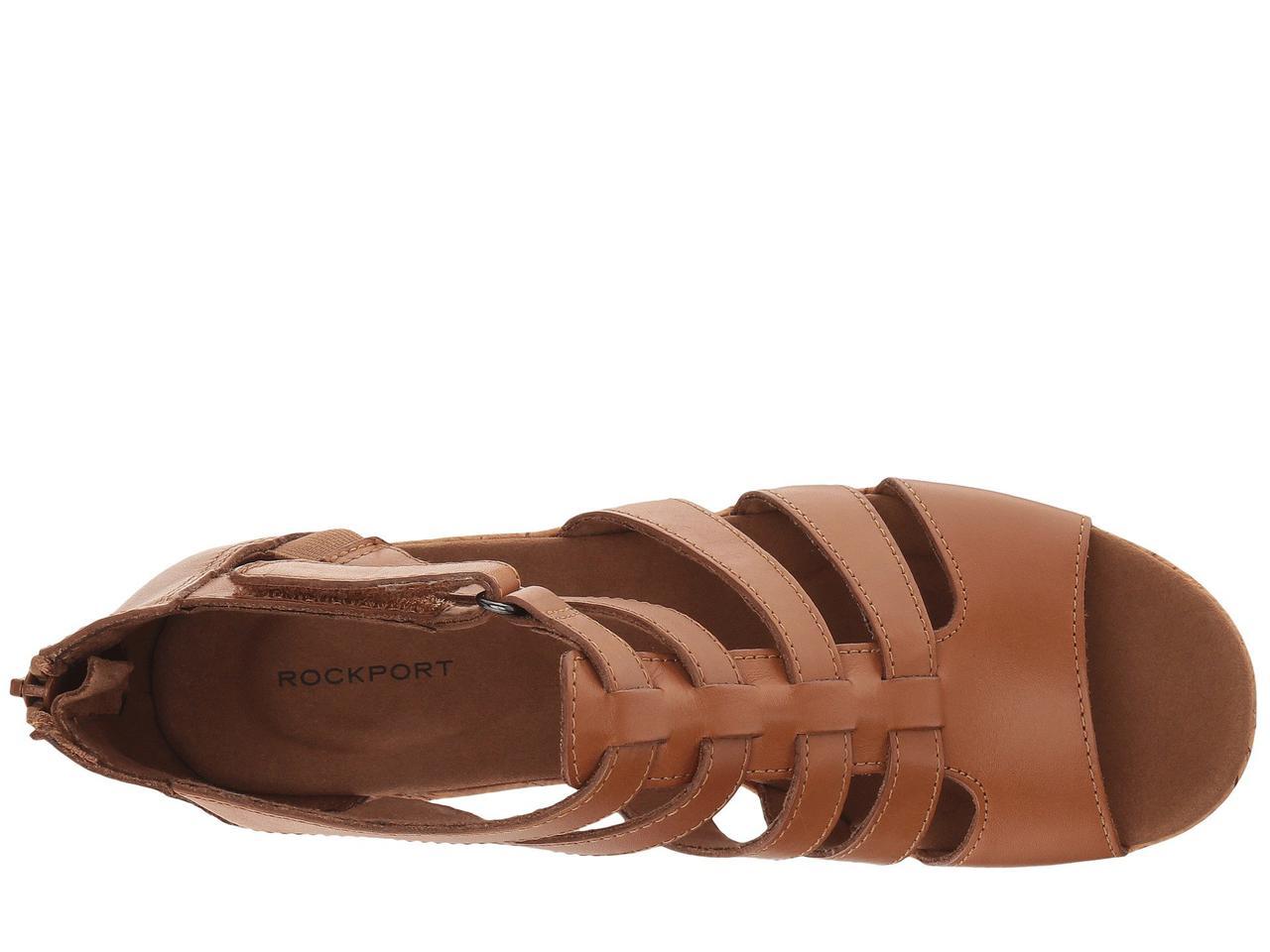 3c81cdb3f815 Туфли на каблуке (Оригинал) Rockport Briah Gladiator Dark Tan Leather
