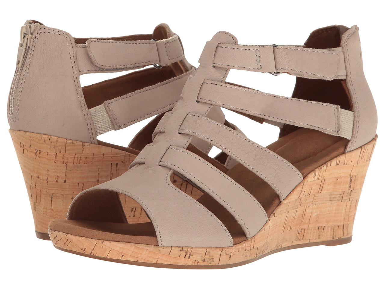 df3981ce567d Туфли на каблуке (Оригинал) Rockport Briah Gladiator New Taupe Nubuck -  TopUSA