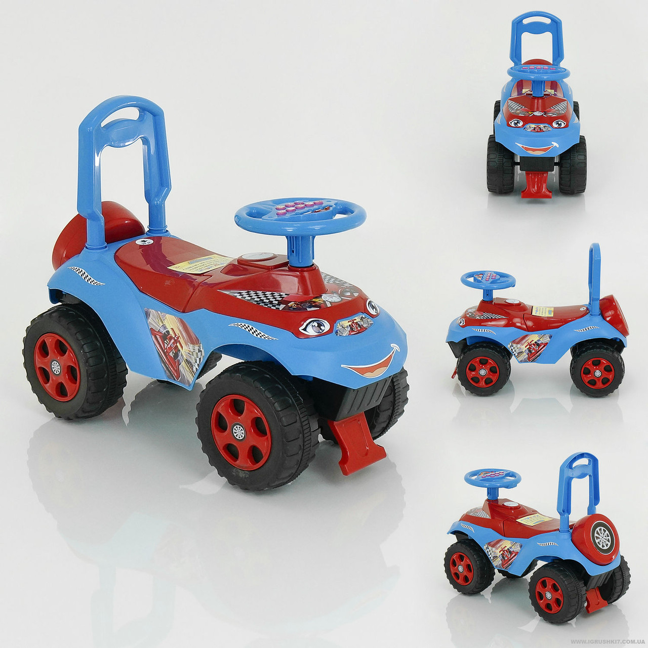 Каталка-толокар Автошка 013117/R/12 цвет красно-синий