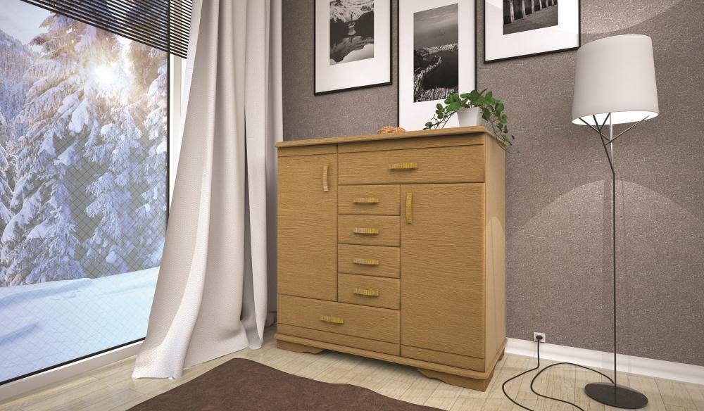 Комод з натурального дерева в спальню/вітальню ТИС Атлант-2