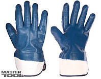 Перчатка масло-бензостойкие с манжетом крага синие