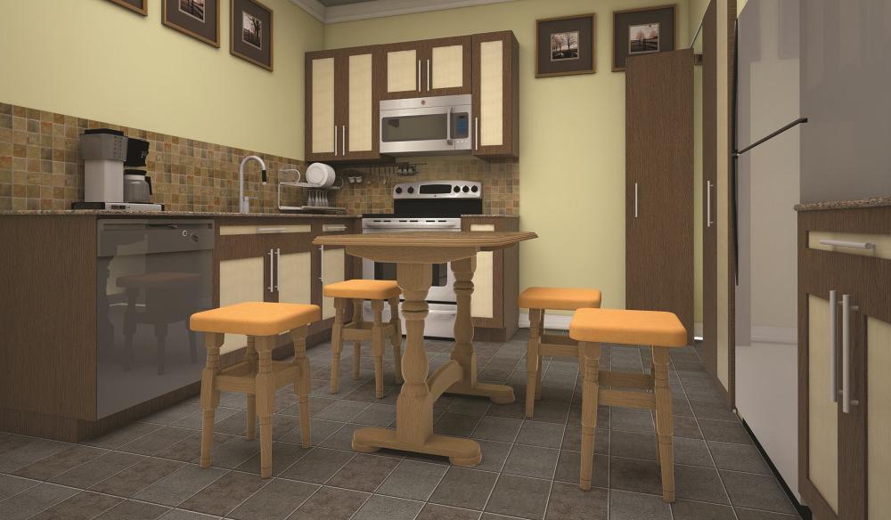 Стіл кухонний обідній з дерева ТИС Раздвижной  бук