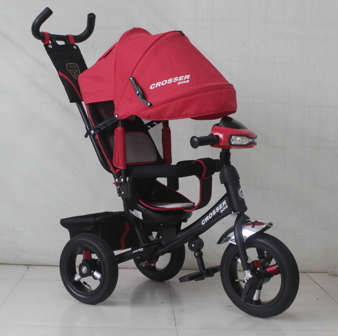 Трехколесный велосипед Azimut Crosser One T1 AIR 2016 красный***