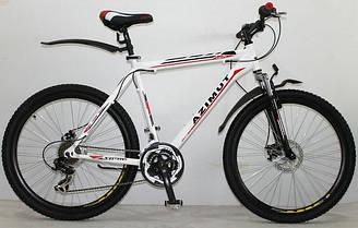 Горный спортивный велосипед 29 дюймов 19 рама Azimu Swift   (оборудование SHIMANO)белый ***
