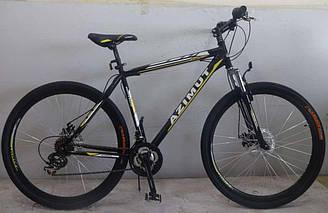 Горный спортивный велосипед 29 дюймов 19 рама Azimu Swift   (оборудование SHIMANO)черный ***