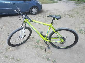 Горный спортивный велосипед 29 дюймов  19 рама Azimu Swift   (оборудование SHIMANO) салатовый***