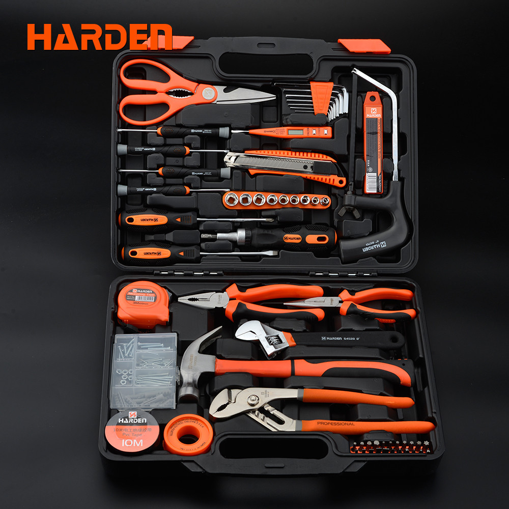 Універсальний набір інструментів для будинку 63 пр. Harden Tools 511012