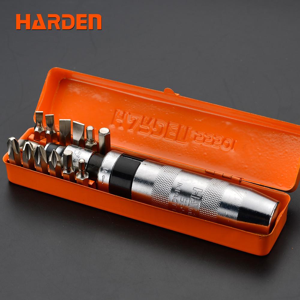 Ударная отвертка в наборе, 14 предметов Harden Tools 550641
