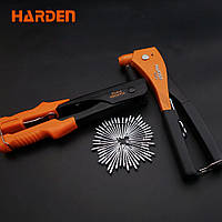 """Профессиональный ручной заклепочник усиленный с аксессуарами 10.5"""" 2,4 - 4,8 мм Harden Tools 610104, фото 1"""