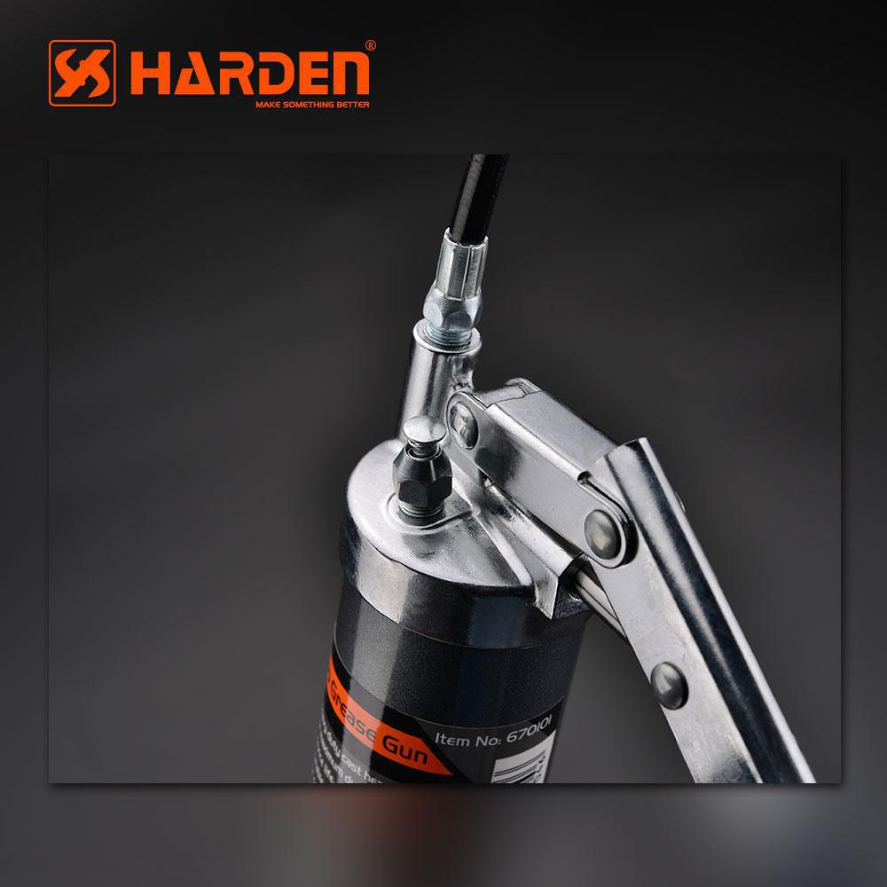 Однаплунжерный шприц для смазки 500 мл PRO металлический жесткий+гибкий концевик Harden Tools 670101