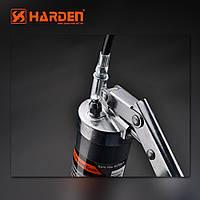 Однаплунжерный шприц для смазки 500 мл PRO металлический жесткий+гибкий концевик Harden Tools 670101, фото 1