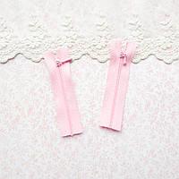 Молния мини для кукольной одежды, рюкзаков, сумок и обуви, 8 см - розовая