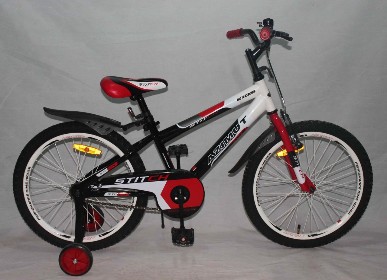 Велосипед двухколёсный 20 дюймов Azimut Stitch А красный***