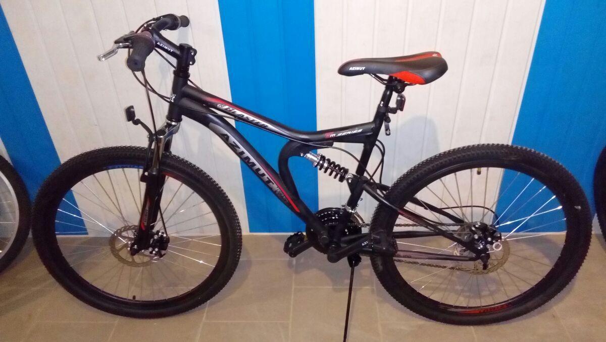 Спортивный велосипед 26 дюймов Azimut Blaster  оборудование SHIMANO че