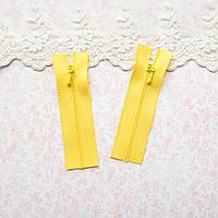 Молния мини для кукольной одежды, рюкзаков, сумок и обуви, 8 см - лимонный