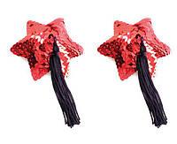 Red Star Shape Sequin Pasties 8cm