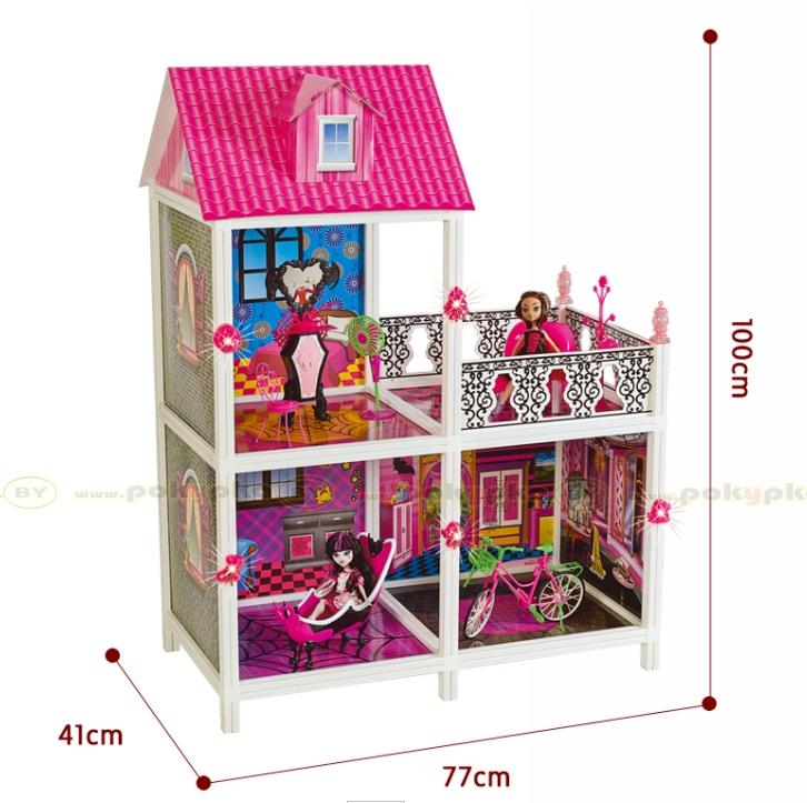 Кукольный домик Монстр Хай Monster High 66901 3 комнаты + балкон, 100