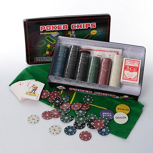 Настольная игра покер M 2776, 300фиш с номиналом ***