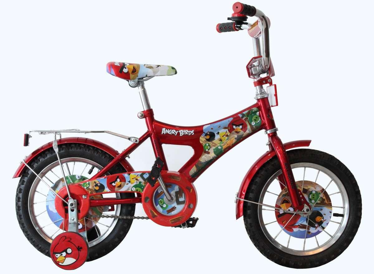 Детский велосипед Mustang ANGRY BIRD (12-дюймов), красный***