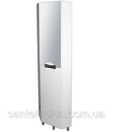 Пенал для ванной комнаты угловой с зеркалом Грация, фото 2