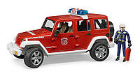 Игрушка - джип  Пожарный  Wrangler Unlimited Rubicon, свет и звук, + фигурка пожарника, М1:16